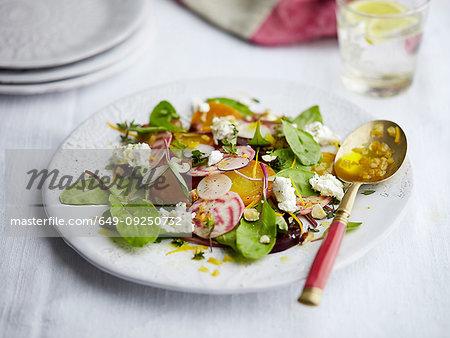 Beetroot salad dish
