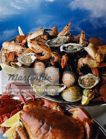 Tray of shellfish