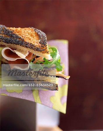 Parma ham and cep sandwich