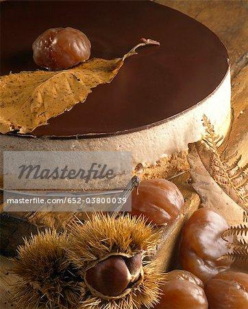 Chestnut mousse cake