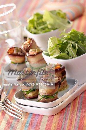 Eggplant rolls filled with tuna