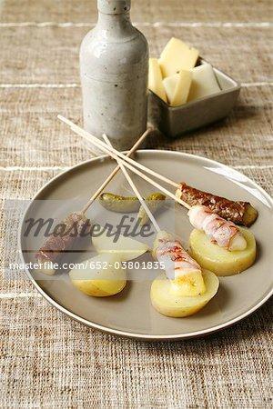 Raclette-style skewers