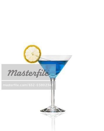 Blue lagoon cocktail