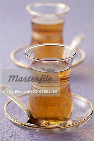 Two glasses of tea