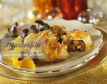 Quail and grape Pastilla