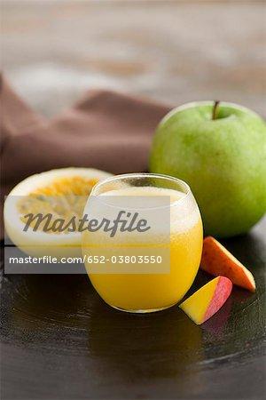 Maracuya,apple and mango smoothie