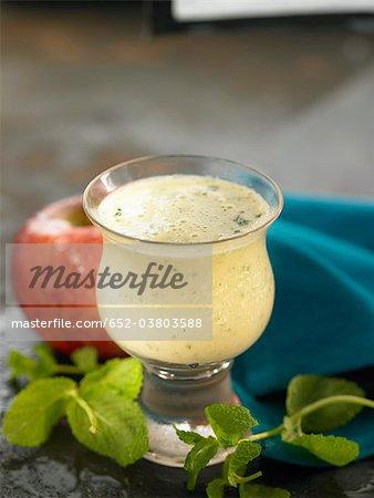 Apple and mint milkshake