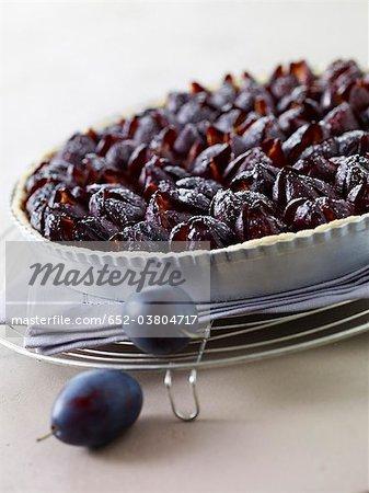 Quetsch plum tart