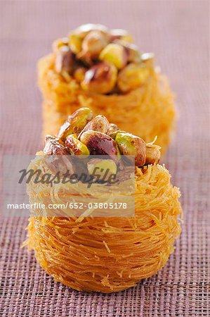 Pistachio bird nests