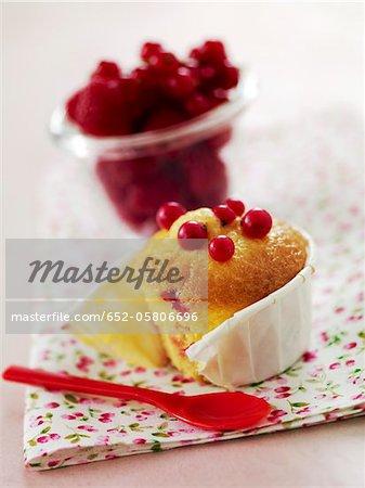 Summer fruit muffin