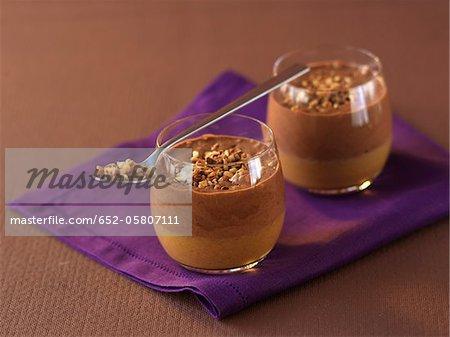Chocolate and hazelnut Verrines