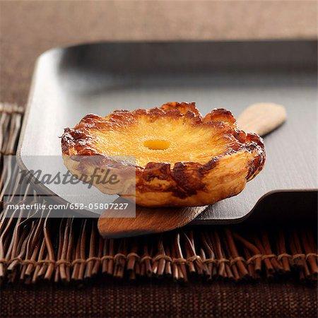 Pineapple and honey tatin tart