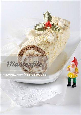 Two chocolate log cake