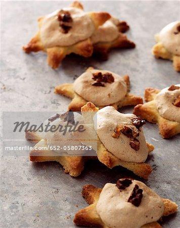 Christmas star-shaped cookies