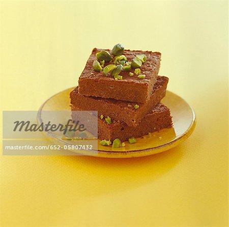 Chocolate-pistachio brownies