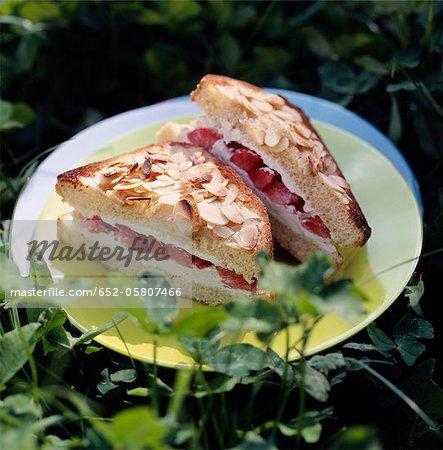 Sweet strawberry sandwich