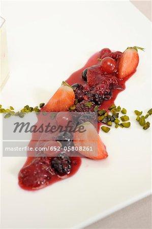 Stewed summer fruit