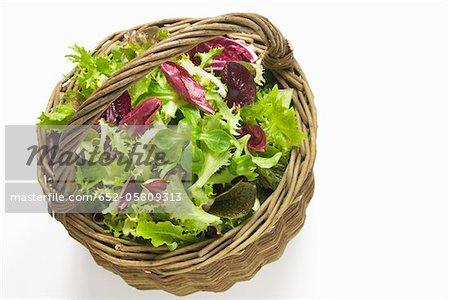 Basket of mesclun