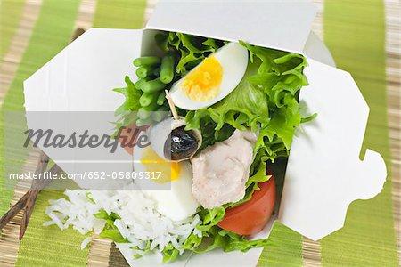 Take-away mixed salad
