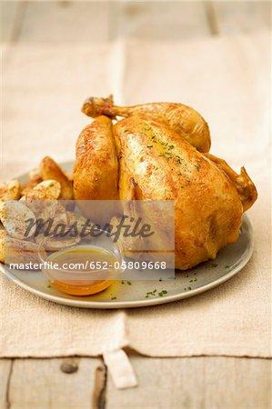Roast chicken ,potatoes and gravy
