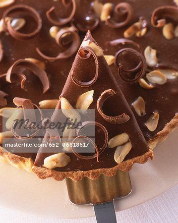 Chocolate -peanut tart