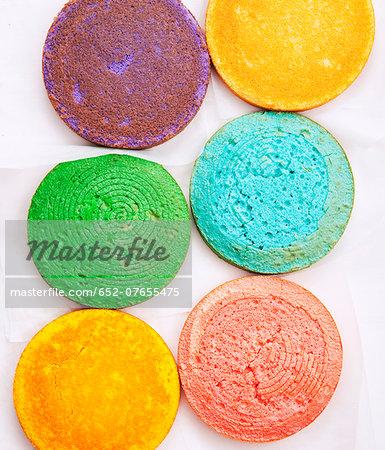 Round colored sponge bases