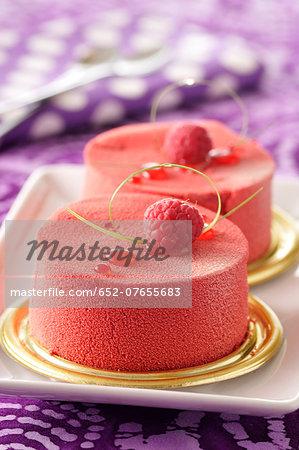 Raspberry-strawberry mousse