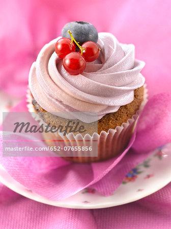 Summer fruit cupcake