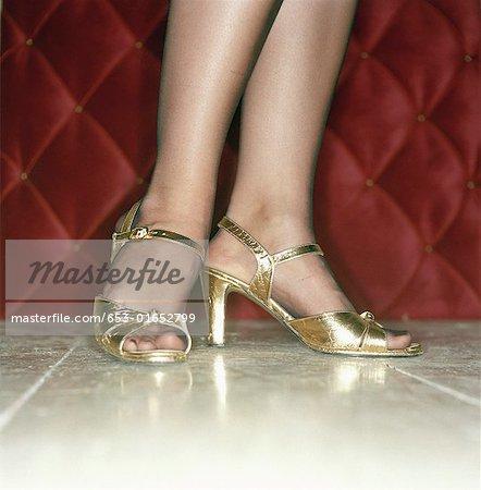 Female feet in high heels