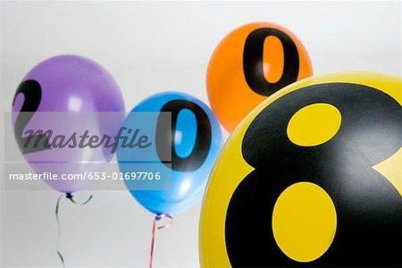 Balloons celebrating New Year
