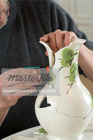 Broken Vase Glued Together Best Vase Decoration 2018