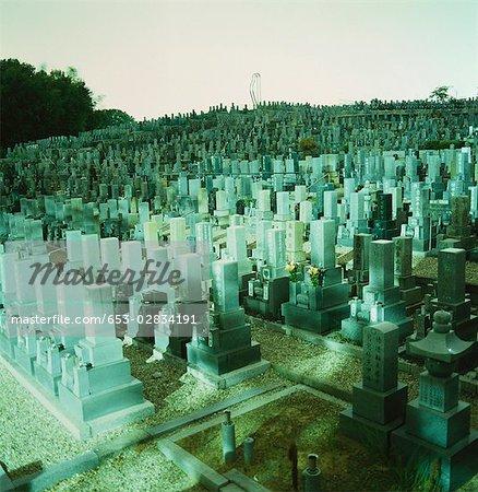 A cemetery, Osaka, Japan