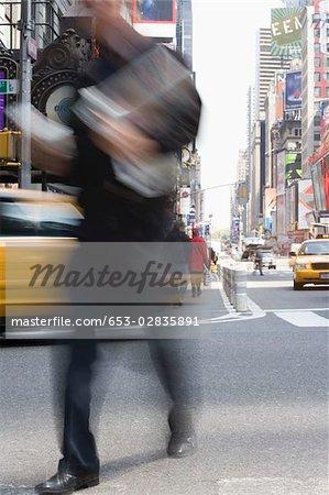 Detail of a city street, Manhattan, New York City