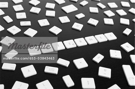 Computer keys spelling the word INTERNET