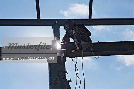Welder on high beam