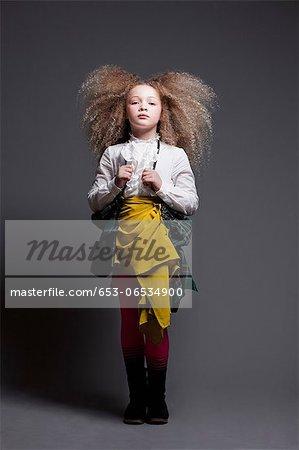 Girl dressed up