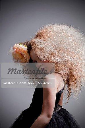 Girl dressed up in Marie Antoinette style