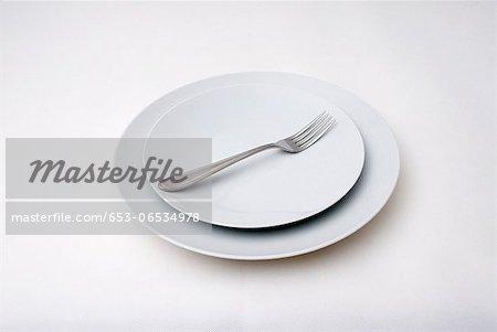 Fork on plates