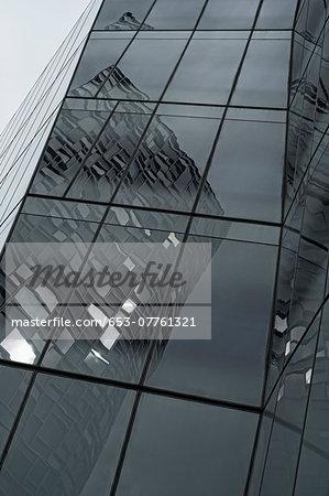 Skyscraper's bent reflections