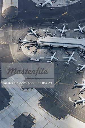 Aerial View Of Airport Newark New Jersey New York Usa Stock Photo