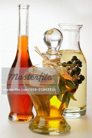Olive oil, peanut oil and sesame oil