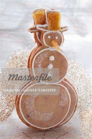 Orange biscuits (snowmen)