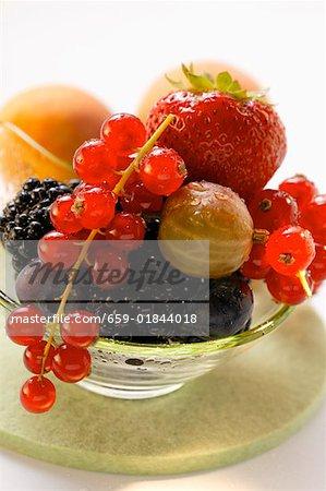 Assorted fresh berries in bowl