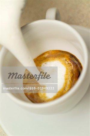 Making a cappuccino
