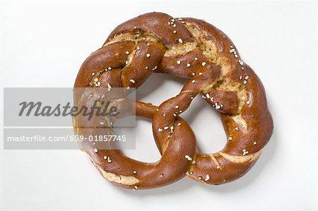 Plaited salted pretzel
