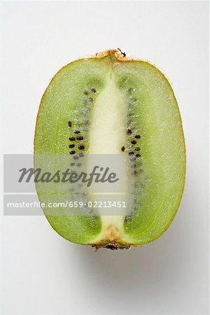 Half a kiwi fruit (longitudinal section)