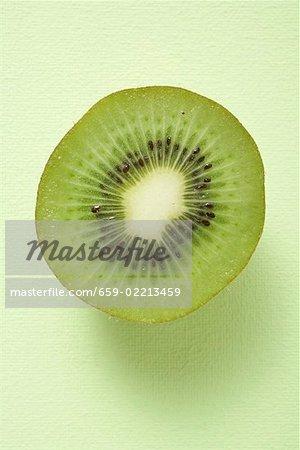 Half a kiwi fruit (overhead view)