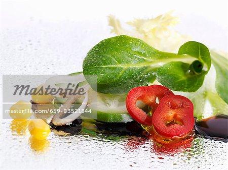 Vegetable salad with balsamic vinegar
