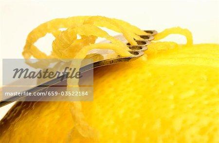 Lemon with zester