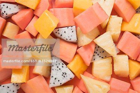 Exotic fruit salad (full-frame)